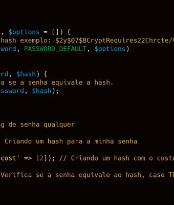 Criando senhas seguras no PHP 7